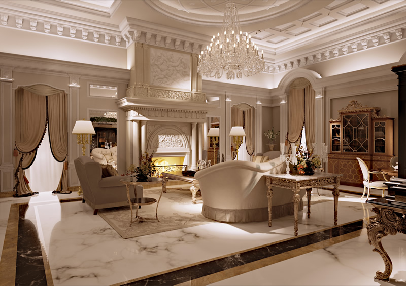 Interior Design Rendering Of Furniture And Interiors