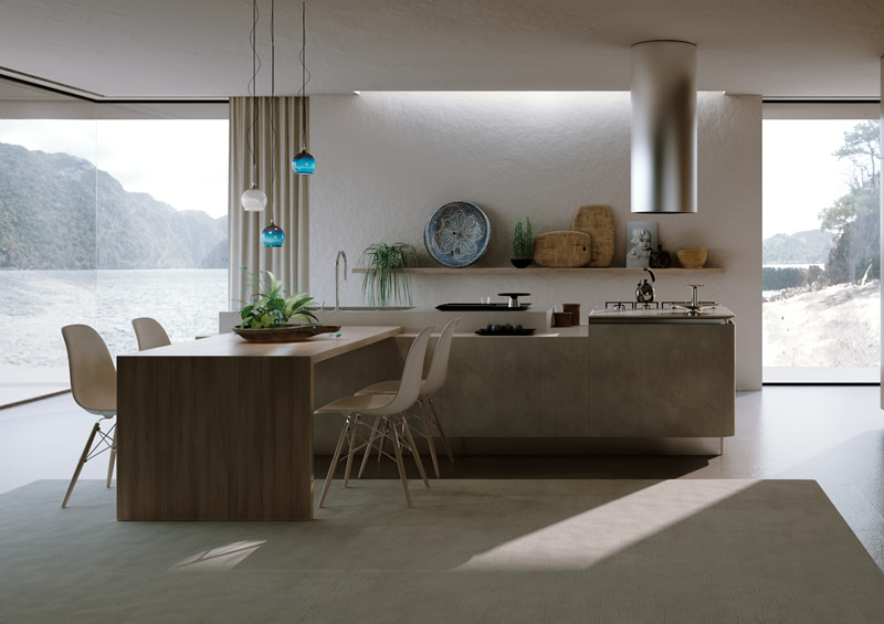 Rendering fotorealistici 3d di cucine in stile for Case vittoriane contemporanee